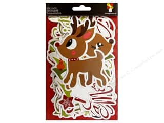 paper accents holly jolly: Imaginisce Die Cut Xmas Cheer Rejoice