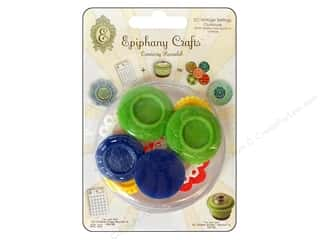 Epiphany Crafts Green: Epiphany Accessories Charm Setting Vintage #14 Clubhouse 10pc