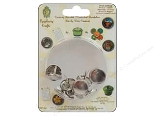 Epiphany Brad Setting Metal Round #14 Silver 10pc