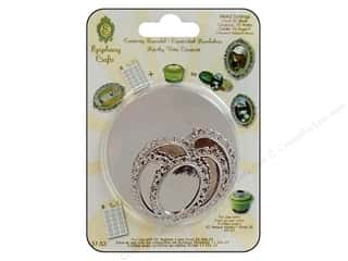 Epiphany Charm Setting Metal Oval #25 Silver 5pc