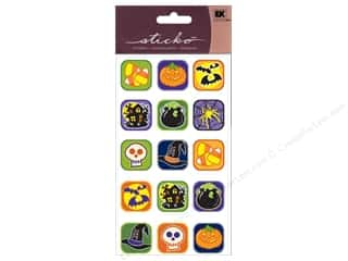 EK Sticko Sticker Sparkler Halloween Buttons