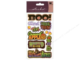 EK Sticko Stickers Sparkler Halloween Titlewaves