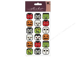 EK Sticko Sticker Sparkler Halloween Heads