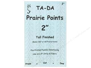 Prairie Sky Quilting Clearance Patterns: TADA Fusible Interfacing Prairie Points 2 in.
