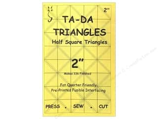 quick bias: TADA Fusible Interfacing Half Square Triangle 2""