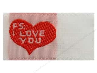 Sewing Construction Valentine's Day Gifts: Tag It Ons Sew On Labels PS I Love You 12pc