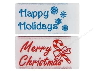 Tag It Ons Sew On Label Merry Christmas Astd 12pc