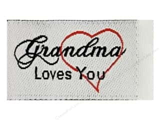 Sewing Construction Family: Tag It Ons Sew On Labels Grandma Loves You 12pc