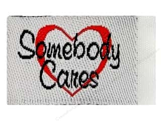 Sewing & Quilting Family: Tag It Ons Sew On Labels Somebody Cares 12pc