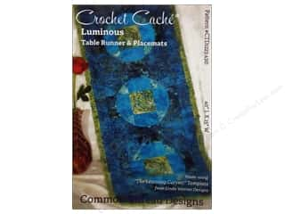 Kimberell Designs Table Runners / Kitchen Linen Patterns: Common Thread Designs Crochet Cache Luminous Table Runner & Placemats Pattern