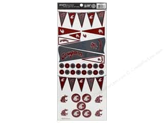Sports Stickers: Sports Solution Sticker Pennant Washington State