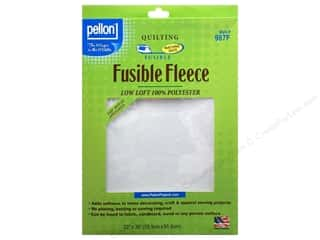 "low loft batting: Pellon Fleece Fusible 22""x 36"" White"