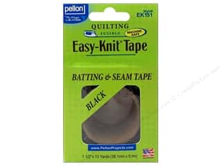 "Seam Roll: Pellon Easy-Knit Batting & Seam Tape 1.5""x 10yd Black"