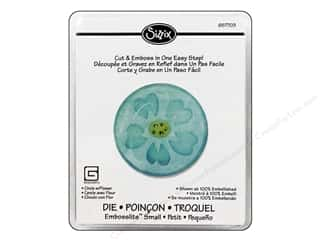Sizzix Dies Basic Grey Embosslits Circle With Flower