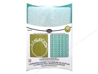 Sizzix TI Embossing Folders 2PK Circle Frame & Rosemary