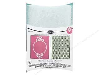 Sizzix TI Embossing Folders 2PK Circle Frame & Sparkling