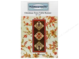 Suzn Quilts Patterns Table Runner & Kitchen Linens Patterns: Peddlecar Quilts Christmas Trees Table Runner Pattern