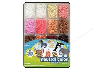 Kid Crafts Perler Fused Bead: Perler Bead Tray 4000 pc. Neutral Colors