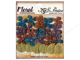 Flowers / Blossoms Brown: Petaloo Darjeeling Hydrangea Blue/Purple/Brown