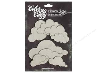 Petaloo Color Me Crazy Chipboard Clouds