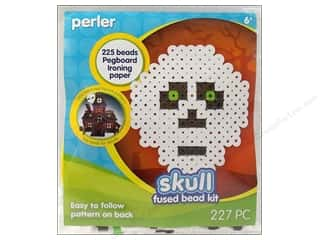 Crafting Kits Beading & Jewelry Making Supplies: Perler Fused Bead Kit Trial Skull