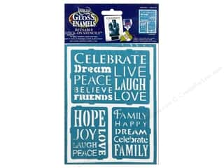 "Weekly Specials Kids Crafts: DecoArt Stencil Americana Glass 6""x 8"" Inspiration"