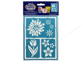 DecoArt Stencil Americana Glass 6x8 Floral