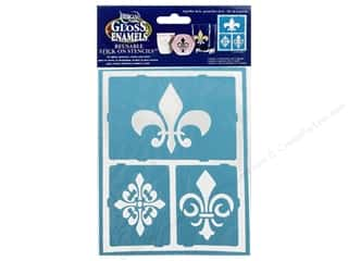 "Weekly Specials Kids Crafts: DecoArt Stencil Americana Glass 6""x 8"" Fleur De Lis"