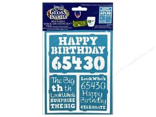 "Birthdays Craft & Hobbies: DecoArt Stencil Americana Glass 6""x 8"" Birthday Milestone"