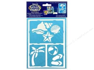 "Stencils Glass: DecoArt Stencil Americana Glass 6""x 8"" Fun In Sun"