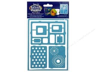"Weekly Specials Glue Dots: DecoArt Stencil Americana Glass 6""x 8"" Mod"