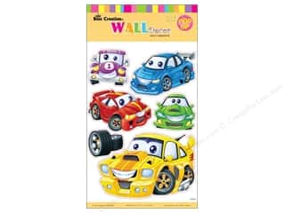 Best Creation Wall Decor Sticker 16&quot; Cartoon Cars
