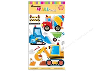 "Best Creation Wall Decor Sticker 16"" 3D Cnstrction"