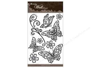 "sticker: Best Creation Wall Decor Sticker 16"" Buttrfly Blk"