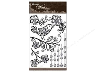 "Best Creation Wall Decor Sticker 16"" Bird Black"