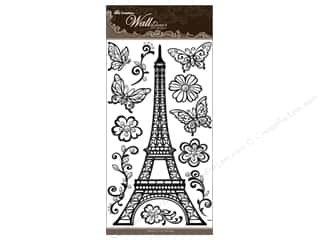 Best Creation Wall Decor Sticker 24&quot; EiffelTwr Blk