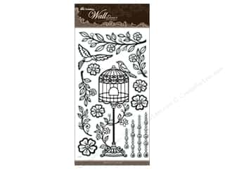 Best Creation Wall Decor Sticker 24&quot; Birdcage Blk