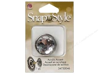 Snaps Clearance Crafts: Cousin Snap In Style Accent Metal Facet Round