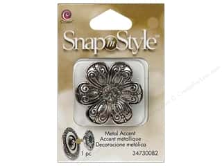 Cousin Snap In Style Accent Metal Flower Filigree