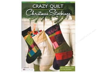Book-Needlework: Design Originals Crazy Quilt Christmas Stockings Book