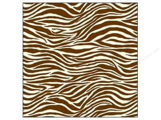 Canvas Corp 12 x 12 in. Paper Chocolate & Ivory Zebra (15 piece)