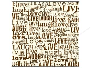 Unique Black: Canvas Corp 12 x 12 in. Paper Chocolate & Ivory Live Love Laugh (15 pieces)