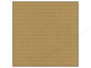 Unique Black: Canvas Corp 12 x 12 in. Paper Chocolate & Kraft Mini Dot (15 pieces)