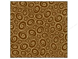 Canvas Corp Paper 12x12 Choc Kraft Swirls Reverse (15 piece)