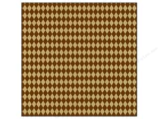 Canvas Corp Paper 12x12 Choc Kraft Diamonds (15 piece)