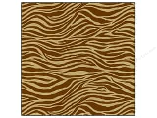 Unique Black: Canvas Corp 12 x 12 in. Paper Chocolate & Kraft Zebra (15 pieces)