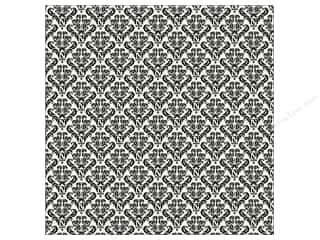 Canvas Corp 12 x 12 in. Paper Black & Ivory Damask (15 piece)