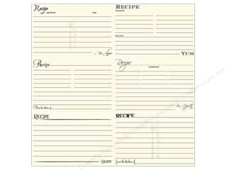 Canvas Corp 12 x 12 in. Paper Black & Ivory Recipe Card (15 piece)