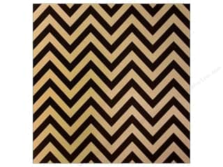 Canvas Corp 12 x 12 in. Paper Black & Kraft Chevron (15 piece)