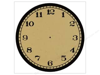 Canvas Corp 12 x 12 in. Paper Black & Kraft Clock Stamp (15 piece)